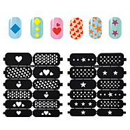 2016 New  Hollow Nail Art Stamping Template Stickers Reusable Stamp Stencil Guide DIY Nail Decal Decoration Tools 1pcs