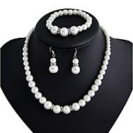 女性用 ジュエリー 人造真珠 パーティー 婚約 合金 イヤリング・ピアス ネックレス ブレスレット