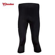 TASDAN Calças 3/4 Para Ciclismo Homens Moto Shorts Acolchoados 3/4 calças justas Calças Roupa de Ciclismo Secagem Rápida Respirável