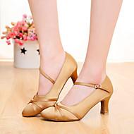 billige Moderne sko-Dame Moderne sko Sateng Høye hæler Spenne / Sløyfe Kustomisert hæl Kan spesialtilpasses Dansesko Svart / Brun / Oransje / Innendørs