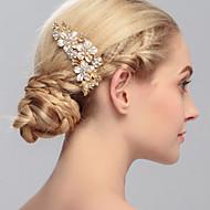 ieftine Șic Floral-Femei Ștras Diadema-Nuntă Ocazie specială Informal Birou & carieră Exterior Piepteni de Păr 1 Bucată