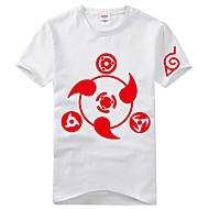 に触発さ NARUTO -ナルト- Itachi Uchiha アニメ系 コスプレ衣装 コスプレTシャツ プリント 半袖 Tシャツ 用途 男女兼用