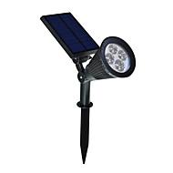 2 in 1 Solar LED Landscape Lighting Waterproof Outdoor Wall Spotlight for Tree Flag Driveway Yard Lawn Pathway Garden