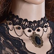 Dame Coliere Choker Torțe Bijuterii Gothic Dantelă Material Textil La modă Bijuterii Pentru Nuntă Petrecere Zilnic Casual
