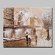 Mini Size Hand-Painted Paris City Landscape Modern Oil Painting On Canvas One Panel Ready To Hang