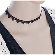 Dame Coliere Choker Torțe Bijuterii Gothic tatuaj cravată Dantelă Material Textil Stil Tatuaj La modă Bijuterii Pentru Nuntă Petrecere