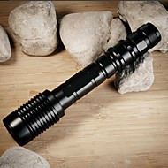 ZK60 LED Flashlights / Torch LED 4000 lm 5 Mode Cree XM-L2 T6 Adjustable Focus Impact Resistant Nonslip grip Rechargeable Waterproof