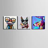 מצויר ביד בעלי חיים מרובע,סגנון ארופאי פנל אחד בד ציור שמן צבוע-Hang For קישוט הבית