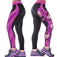 Femme Collants de Course Running Leggings de Sport Violet Des sports Chat Sous Vêtement Collants Yoga Fitness Entraînement de gym Tenues de Sport Respirable Séchage rapide Compression Haute élasticité