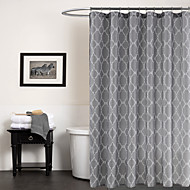 cheap Shower Curtains-Shower Curtains Modern Polyester Geometric Machine Made