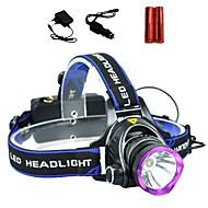 halpa -LS1792 Otsalamput LED 2000lm 3 lighting mode Akuilla ja latureilla Zoomable / Säädettävä fokus / Iskunkestävä Telttailu / Retkely /