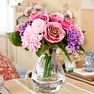 billige Kunstige blomster-Kunstige blomster 10 Gren Europeisk Stil Roser / Kurvplante Bordblomst