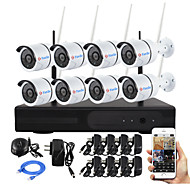 YanSe® 8CH Plug and Play Wireless NVR Kit P2P 720P HD Outdoor/Indoor IR Night Vision Security IP Camera WIFI CCTV System