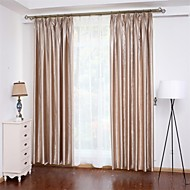 cheap Curtains Drapes-Curtains Drapes Bedroom Solid Colored 100% Polyester Polyester Embossed
