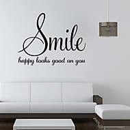Words & Quotes Wall Stickers Plane Wall Stickers,vinyl 58*45cm