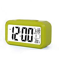billiga Väckarklockor-1 st LED Night Light Smart Batteri Glas ABS 1 Lampa Inga batterier medföljer