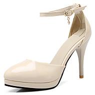 abordables Talons pour Femme-Femme Chaussures Cuir Verni / Similicuir Printemps / Eté D'Orsay & Deux Pièces Talon Aiguille Beige / Rouge / Rose / Habillé