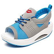 halpa -Naiset Sandaalit Tekonahka Kesä Kävely Platform Purppura Sininen Pinkki 4-4,75in