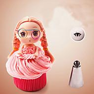 tanie Przybory do pieczenia-bez szwu oblodzenia rurociągi dysze porady ze stali nierdzewnej barbie dziewczyna spódnice ciasta ciasto ciasto z posypką