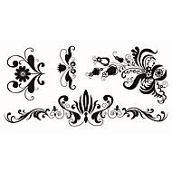 billiga Temporära tatueringar-5 Tecknat Smyckeserier Djurserier Blomserier Totemserier tecknad serie Tatueringsklistermärken