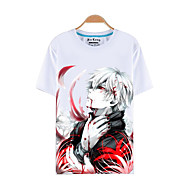 Inspired by Tokyo Ghoul Ken Kaneki Anime Cosplay Costumes Cosplay T-shirt Print Short Sleeve Top For Men's