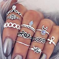 Mulheres Maxi anel Anéis para Falanges Estilo Boêmio Europeu Moda Vintage Personalizado Pedras preciosas sintéticas Liga Formato de Flor