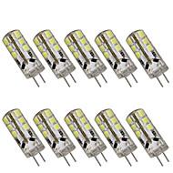10pçs 2 W 200 lm G4 Luminárias de LED  Duplo-Pin T 24 Contas LED SMD 2835 Decorativa Branco Quente / Branco Frio 12 V / 10 pçs / RoHs