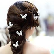 Imitation de perle / Alliage Coiffure / Épingle à cheveux avec Fleur 1pc Mariage / Occasion spéciale Casque