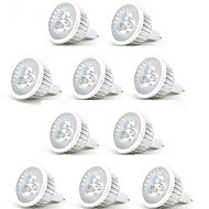 billige -10pcs 3W 250lm MR16 LED-spotpærer 3 LED perler Høyeffekts-LED Dekorativ Varm hvit Kjølig hvit 12V