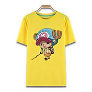 """Inspirert av One Piece Tony Tony Chopper Anime  """"Cosplay-kostymer"""" Cosplay T-skjorte Trykt mønster Kortermet Topp Til Herre / Dame"""