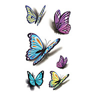 cheap Tattoo Stickers-Sexy Waist Shoulder Water Transfer Tattoo Decal Waterproof Temporary Tattoo Sticker Colorful Butterfly Fake Tattoo