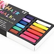temporários 24 lápis de cor de giz para cabelos não tóxicas pastéis de coloração capilar furar ferramentas de estilo DIY
