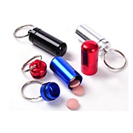 Waterproof  Small Metal Container Aluminum Pill Box Holder Keychain Medicine Packing Bottle