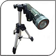 YGFL-008A LED懐中電灯 LED 1000 lm 6 モード - 焦点調整可 充電式 防水 ズーム可能 のために キャンプ/ハイキング/ケイビング 釣り 屋外 対応 グリーン