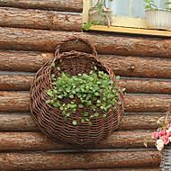 natuurlijke rotan opgemaakte handwerk aan de muur gemonteerde bloemenmand van hoge kwaliteit