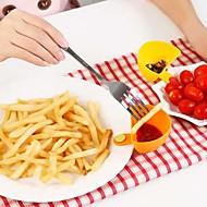 cozinha salada molho de ketchup jam dip clipe bacia copo pires louças (cor aleatória)
