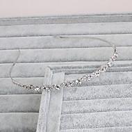 economico Corone, diademi e accessori per capelli sposa-Strass Cerchietti 1 Matrimonio Occasioni speciali Casual Ufficio e carriera All'aperto Copricapo