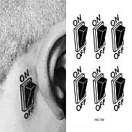 1 Acțibilde de Tatuaj Altele WaterproofDame Bărbați Adult tatuaj flash Tatuaje temporare