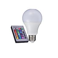 billige Globepærer med LED-3 W 280-320 lm E26 / E27 LED-globepærer A60(A19) LED perler Høyeffekts-LED Fjernstyrt RGB 85-265 V / 1 stk. / RoHs / CCC