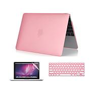 """3 em 1 crystal clear caso soft-touch com tampa teclado e protetor de tela para MacBook Pro 13 """"/ 15 ''"""