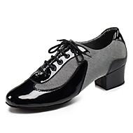 billige Moderne sko-Herre Sko til latindans / Jazz-sko Kunstlær Sandaler / Høye hæler Innendørs / Ytelse / Profesjonell Snøring Tykk hæl Kan spesialtilpasses