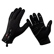 cheap Cycling Gloves-Sports Gloves Bike Gloves / Cycling Gloves Keep Warm Windproof Breathable Anti-skidding Protective Full-finger Gloves Synthetic Leather