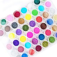 45db mix színes köröm akril por nail art dekoráció