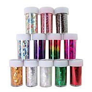 12pcs lazer folyo tırnak süslemeleri parlak tırnak çıkartmalar no.1-12 (120x4x0.1cm)