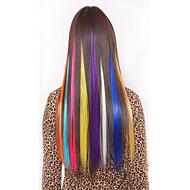 synthetische värikäs clip hiusten pidennykset 1 leikkeet 5color