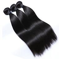 abordables -Tissages de cheveux humains Cheveux Malaisiens Droit 3 Pièces tissages de cheveux