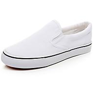 baratos Sapatos de Tamanho Pequeno-Homens Lona Primavera / Verão Conforto Mocassins e Slip-Ons Branco