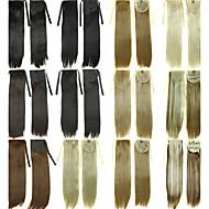 Ruban à cordes ponytails clip de cheveux dans les extensions de cheveux naturel noir / brun foncé / blonde