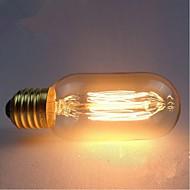 billige Glødelampe-e27 AC220-240V 40W silke karbon filament glødepærer T45 rundt perle