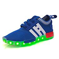 baratos Sapatos de Menino-Para Meninos / Para Meninas Sapatos Tule Primavera Tênis Cadarço / Elástico / LED para Preto / Vermelho / Azul Real